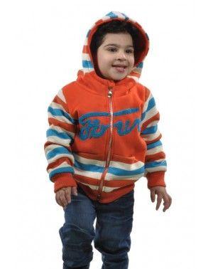 Comfy Striped Hooded Jacket