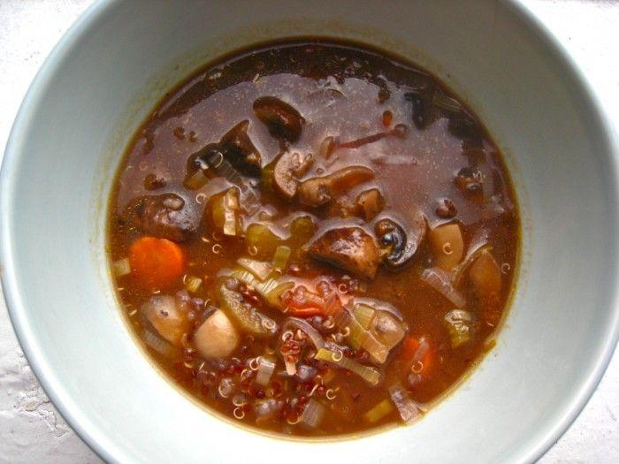 ... Mushroom Quinoa Soup | TheCornerKitchenBlog.com #recipe #soup #vegan