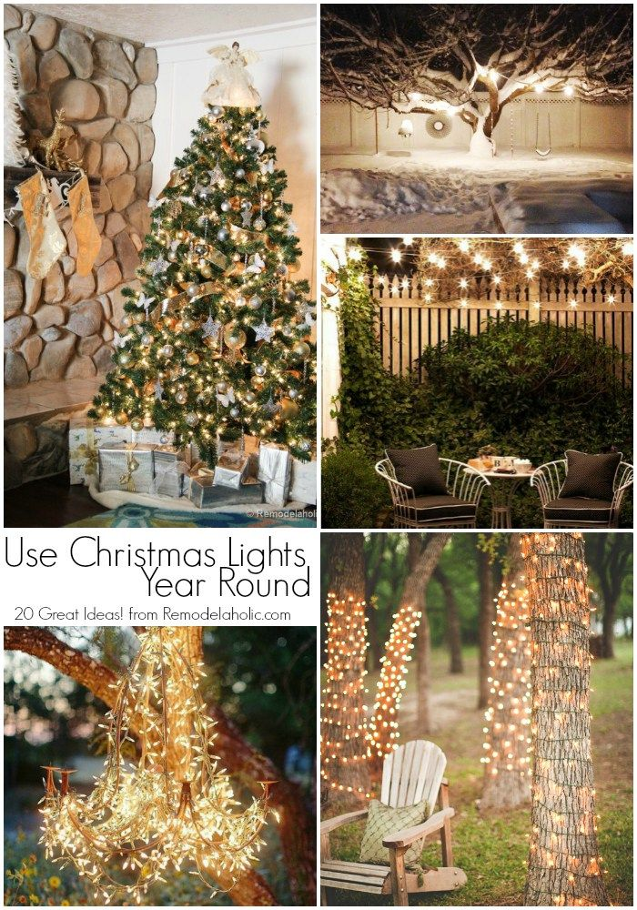 20 Great Uses for Christmas Lights YEAR ROUND! Those inexpensive light  strings aren't just for the tree at Christmas. Use these ideas to to make  them a ... - 20 Great Uses For Christmas Lights YEAR ROUND! Those Inexpensive