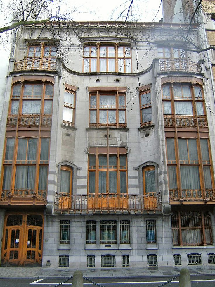 Maison Solvay, Avenue Louise, by Victor Horta. The price paid to raise this perfect and exquisite example of Art Nouveau architecture was equivalent of the cost to build 3000 workers' homes at the time.
