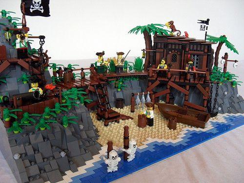 Lego Pirate Hideout | The Skull Beneath The Skin by - Derfel Cadarn -, via Flickr