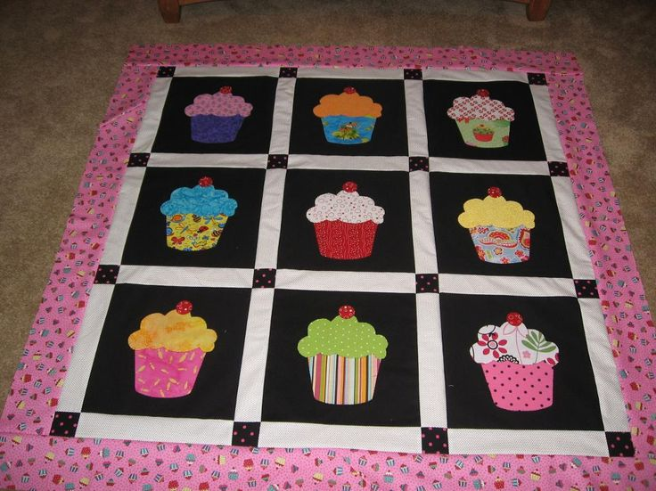 Looking for quilting project inspiration? Check out Cupcake Crazy by member sonia.plyl309418.