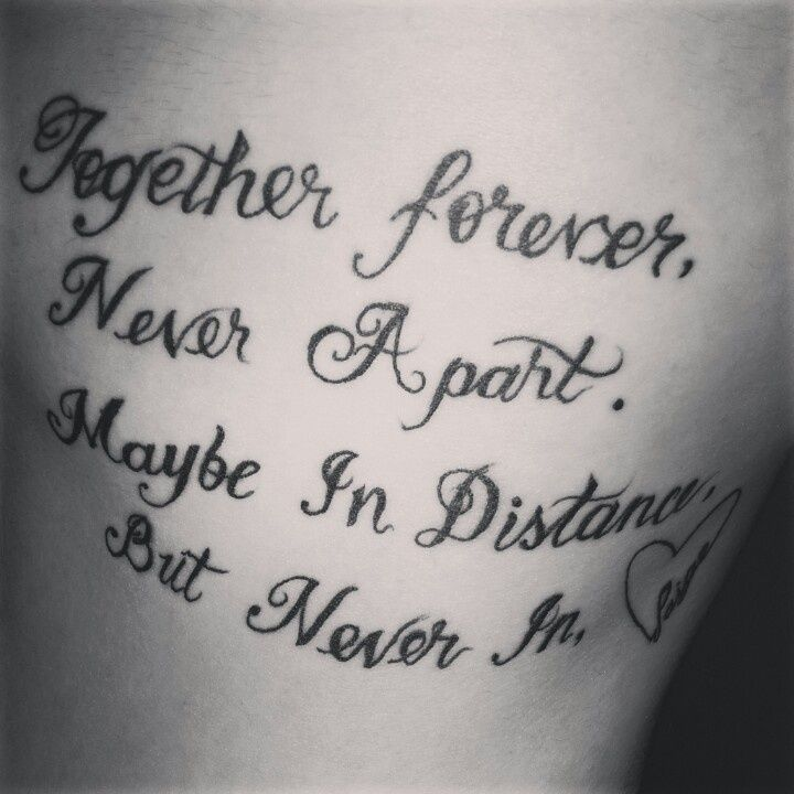 Tattoo Quotes Heart: 14 Best Images About Family Distance Quotes For Tattoos On
