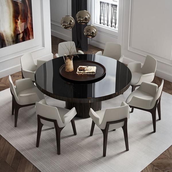 Enjoy The Warmth And Solidity Of Wood Or The Cool And Brightness Of Lacquer The Berkeley Dining T Dining Table Design Dinning Table Design Dinning Room Tables