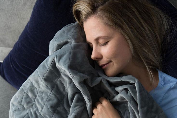 This blanket can help reduce anxiety and insomnia