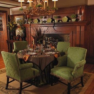 alpine dining traditional dining room - Traditional Home Decor