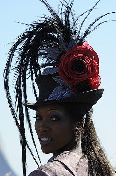 Lystra Adams , Matalan Best-dressed award winner | Ladies' Day at Aintree   Photograph: Tom Jenkins/Guardian