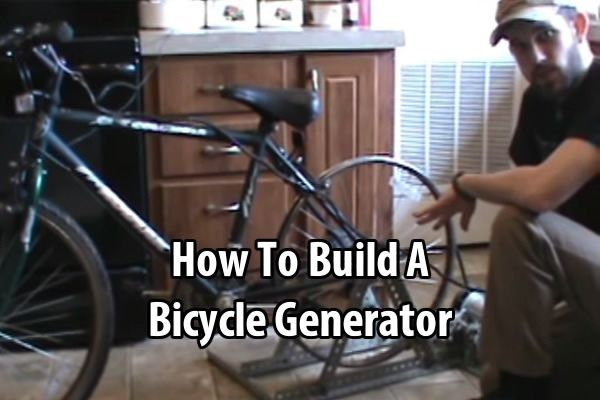 7 Trumpets Prepper recorded a video where he shows step by step how he build a custom bicycle generator. This would be a great thing to have.