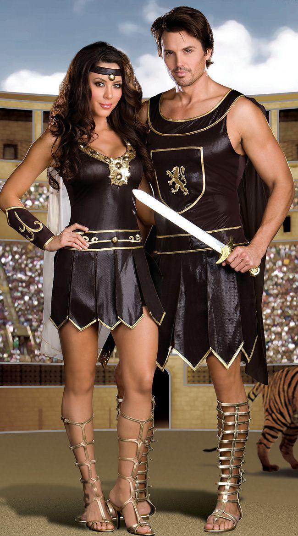 Gladiator Couples Costume Warrior Couples Costume Coliseum Couples Costume Babylonian Couples Costume.  sc 1 st  Pinterest & 44 best Cute Couples Costumes images on Pinterest | Costumes Couple ...