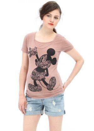 Disney Series Mickey Lace Maternity and Breastfeeding T-Shirt Nomor produk:13815