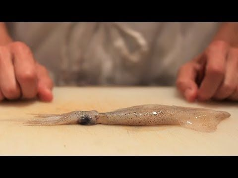 How to clean squid - please DO remove the skin. If you don't it cooks up like a rubber band, yuck!