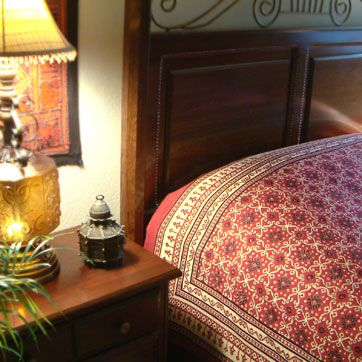 www.saffronmarigold.com has the most beautiful handmade linens with natural dyes and gorgeous patterns. bedding, table cloths, curtains, pillows, shower curtains and more.