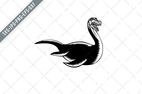 Loch Ness Monster Or Nessie Swimming Svg Graphic By Patrimonio Creative Fabrica