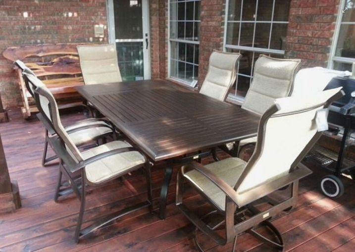 Hermosa Padded Sling Dining Chairs With A Farnham Table From Patio  Renaissance Enjoy Your Outdoor Room · Outdoor RoomsYard ArtDining ...