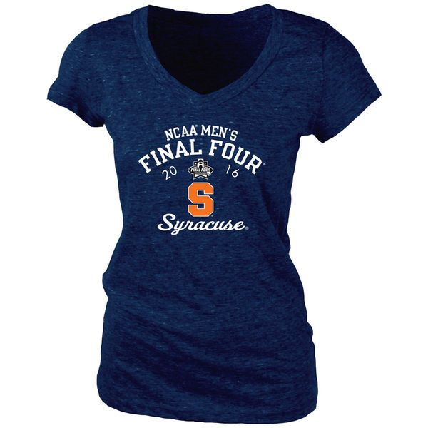 Syracuse Orange Blue 84 Women's 2016 NCAA Men's Basketball Tournament Final Four Bound Tri-Blend V-Neck T-Shirt - Navy - $20.99