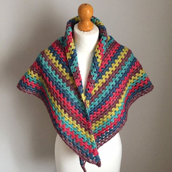 Beautifully handmade, colourful shawl from The Dorset Finca... https://www.etsy.com/uk/listing/478482735/batten-down-shawl-colourful-handmade #handmade #fashion #hygge #slowfashion