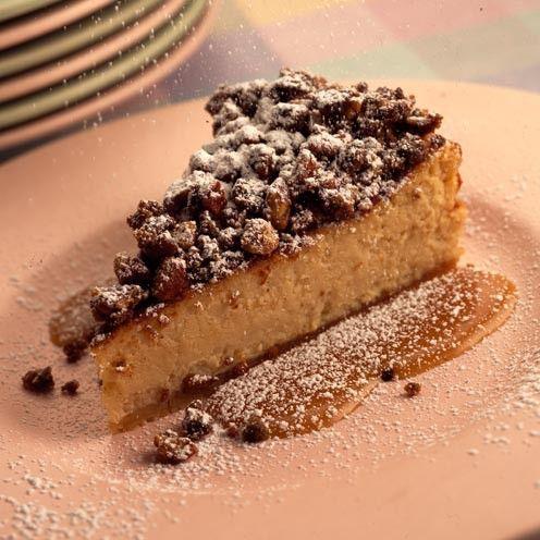Pecan streusel cheesecake with maple sauce - Good Housekeeping