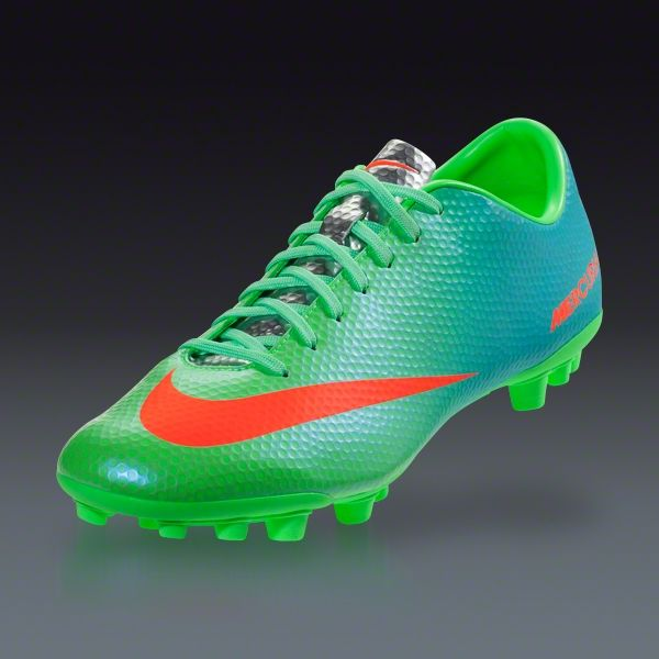 Nike Mercurial Veloce AG - Neo Lime/Metallic Silver/polarized blue/total  crimson