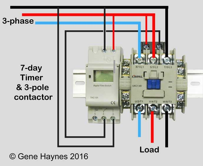 How to wire motor control contactor: http://waterheatertimer.org/How-to-wire-motor-control-contactor.html