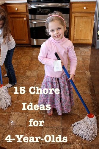 15 Chore Ideas for 4 Yr. Olds