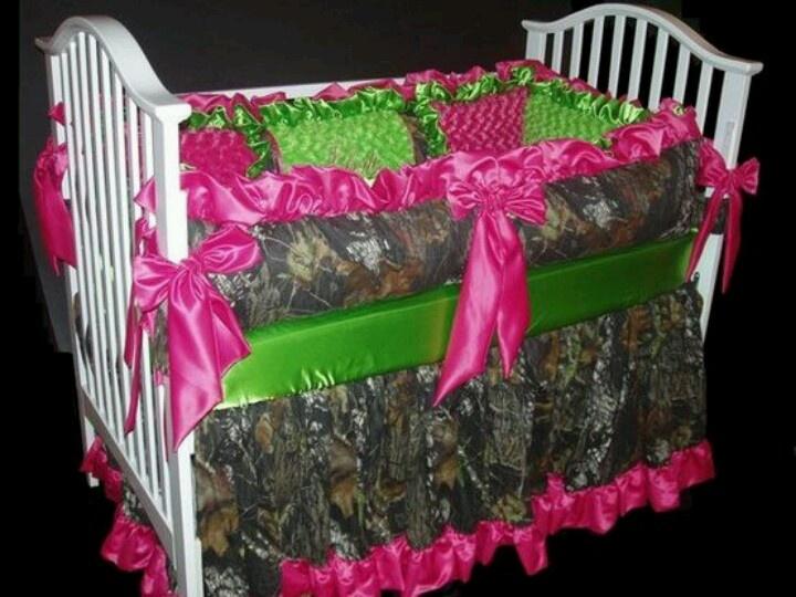 Camo baby bed
