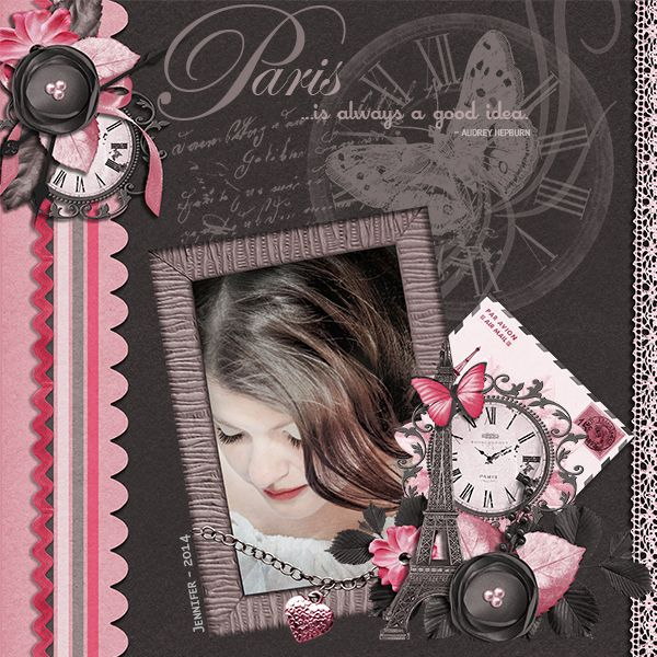 Jennifer in Paris by DogArtist. Kit used: Paris Bistro http://scrapbird.com/designers-c-73/a-c-c-73_514/aadesigns-c-73_514_395/paris-bistro-bundle-by-aadesigns-p-12103.html
