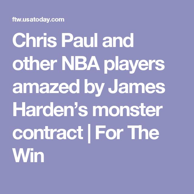 Chris Paul and other NBA players amazed by James Harden's monster contract | For The Win