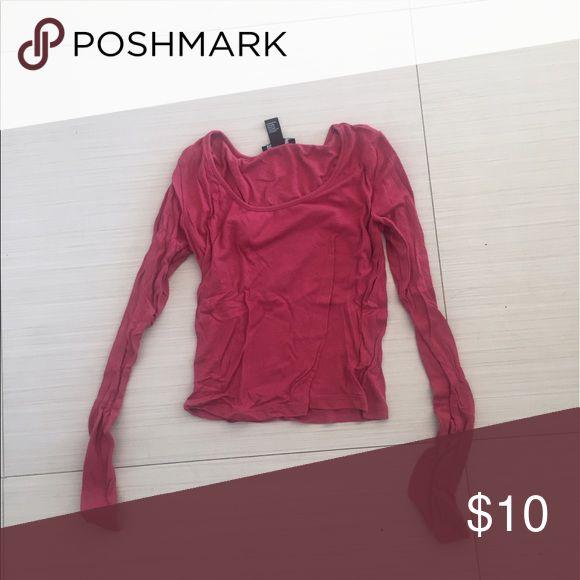 red long sleeve top red long sleeve top WORN ONCE Forever 21 Tops Tees - Long Sleeve
