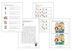Werkbladen thema opa's en oma's onderbouw. Leuk voor bij de Kinderboekenweek…
