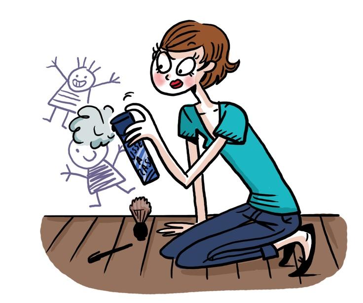 Isabelle Maroger, publié dans le n°12: la mousse à raser pour nettoyer les dessins d'enfants sur les murs