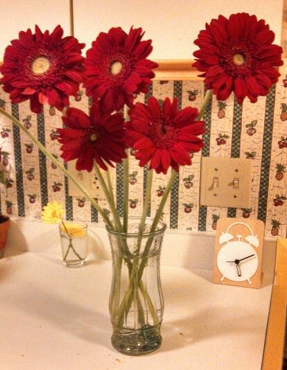 Just love my red flowers! Ilu my sistah from another Mr.  Eres muy especial ♥♥