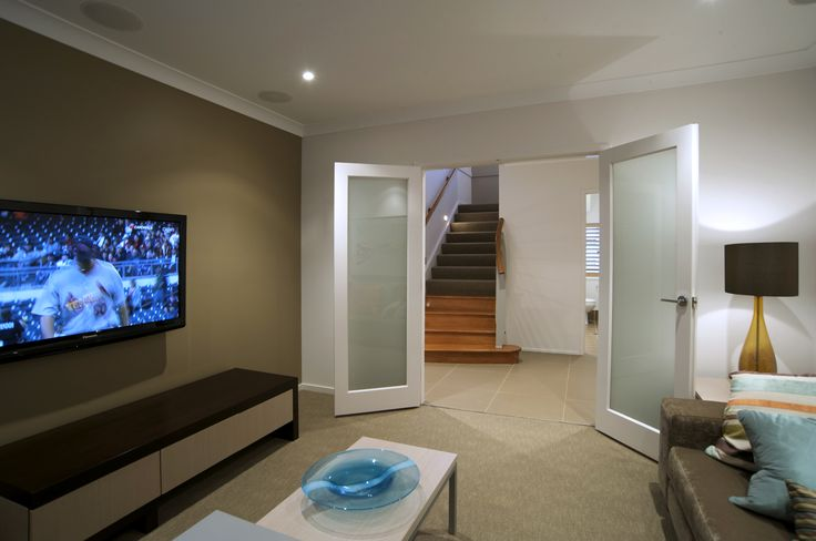 Media room in the Waterford  #Mediaroom #living #house #interior