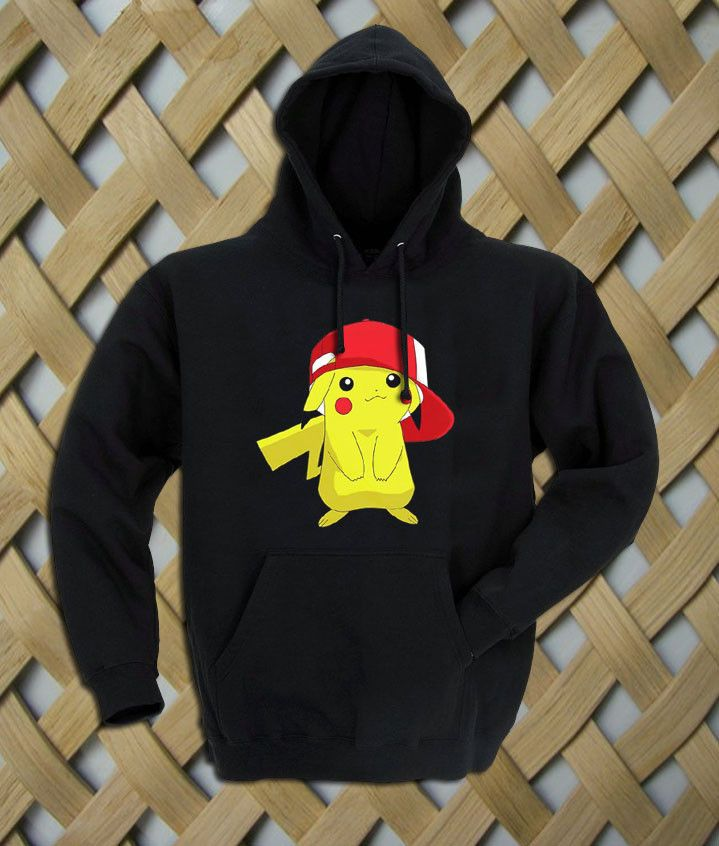 Pikachu birthday Hoodie  Hooded Sweatshirt  8.0 oz., 50/50 cotton/polyester Reduced pilling and softer air-jet spun yarn Double-lined hood with matching drawcord (adult style only) 1×1 athletic rib kint cuffs and waistband with spandex Double-needle stitching throughout Front pouch pocket. size: S,M,L,XL. color:black,gray,white,maroon.