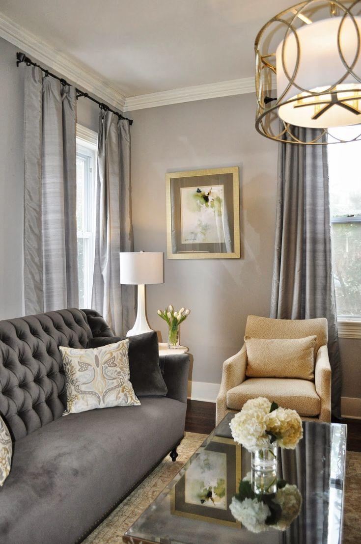 Portfolio Elegant Living Room Beige Living Rooms