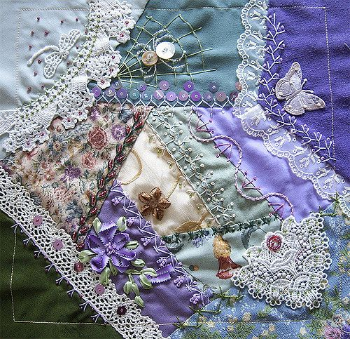 Charita did not have a title for her Choose your theme but I hope she likes this Garden block I stitched to her.