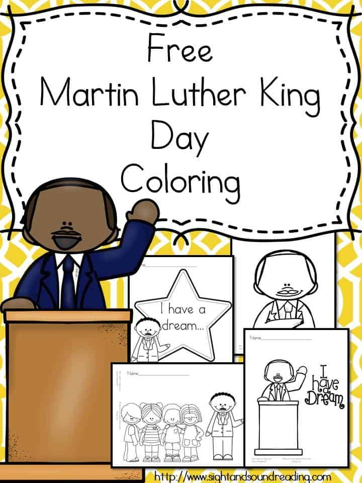 Martin Luther King Day Coloring For Preschool Kindergarten Mlk