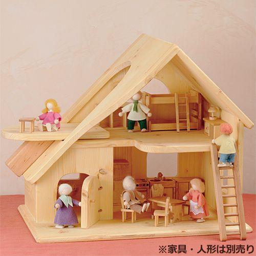 【楽天市場】誕生日 3歳 4歳 5歳 誕生日プレゼント 女の子 木のおもちゃ ドールハウス 木製 ドライブラッター社 人形の家 2階建 大 子供 出産祝い バースデー 【楽ギフ_出産祝い】:木のおもちゃ ままごと ニコリ