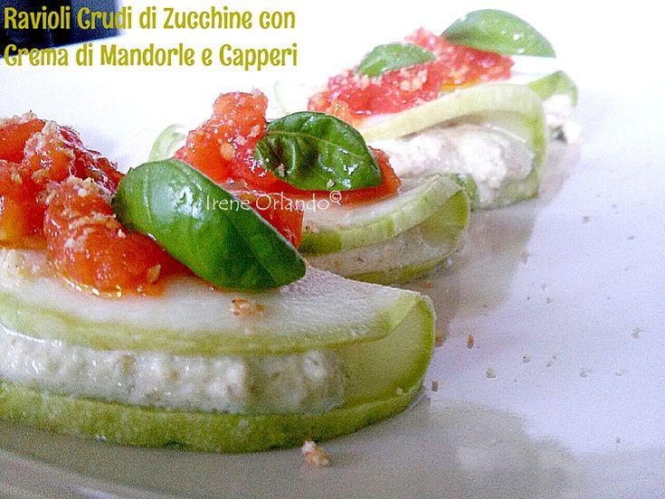 Involtini di Zucchine Tonde con Crema di Mandorle e Capperi di Pantelleria