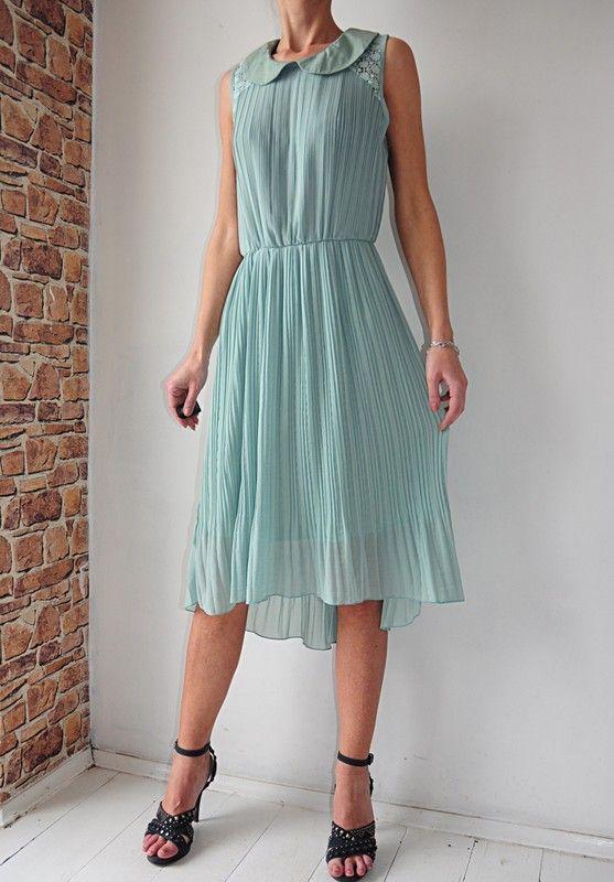 d8f6ad4a30 Shikka sukienka plisowana zielona 36   38 - Vinted
