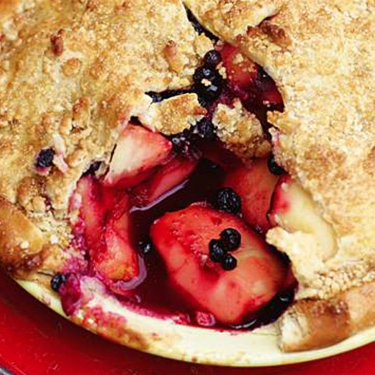 Try this Appleberry Pie  recipe by Chef Jamie Oliver. This recipe is from the show Jamie's American Road Trip.