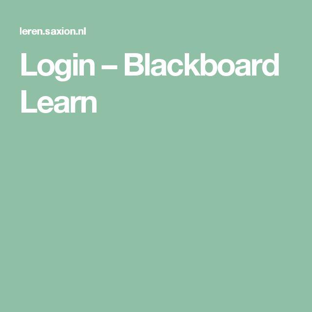 Login – Blackboard Learn