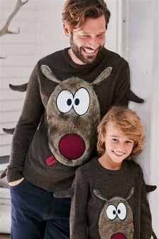 Christmas Reindeer Jumper (Mens)