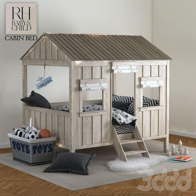 3d модели: Кровати - Restoration Hardware Baby&Child CABIN BED
