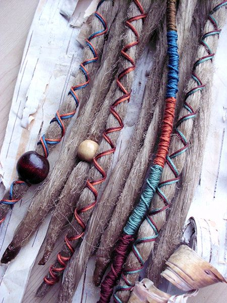 "10 Custom Dreads Hair Wraps & Beads Bohemian by PurpleFinchStore, $52.00 ""dark blonde"" hair color"