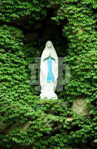 Statue of the Blessed Virgin Mary at the Grotto