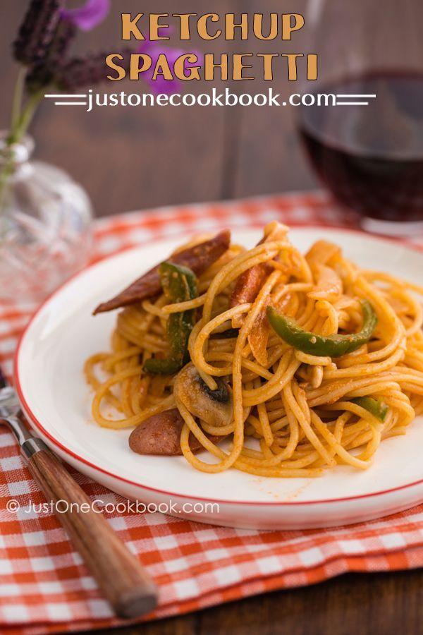 Ketchup Spaghetti (スパゲッティーナポリタン) | Easy Japanese Recipes at JustOneCookbook.com