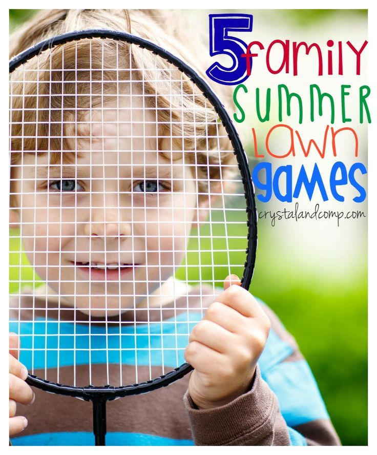 5 family summer lawn games