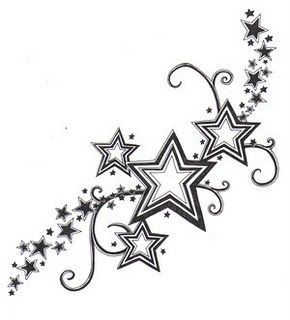 star tattoos for back of the neck