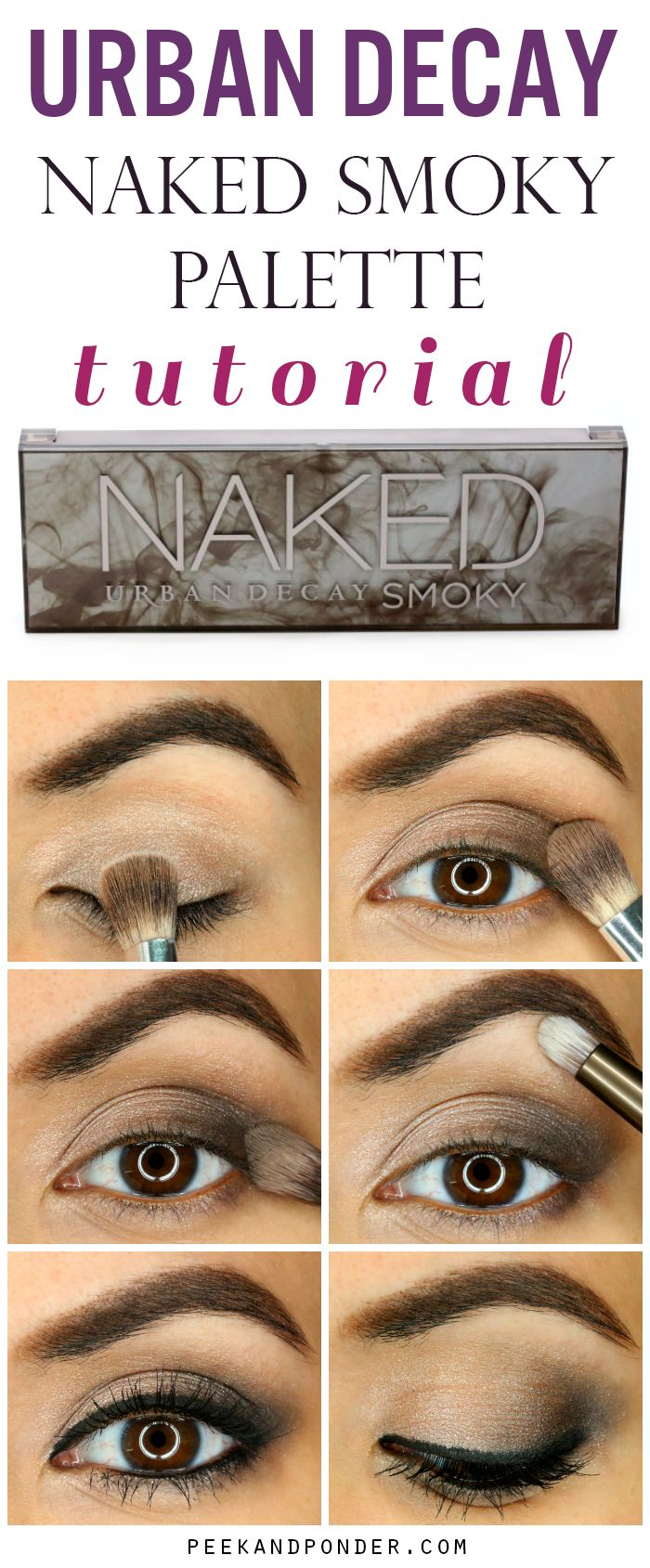 Awesome and easy smoky eye with the Urban Decay Naked Smoky palette! I've got to get this palette!