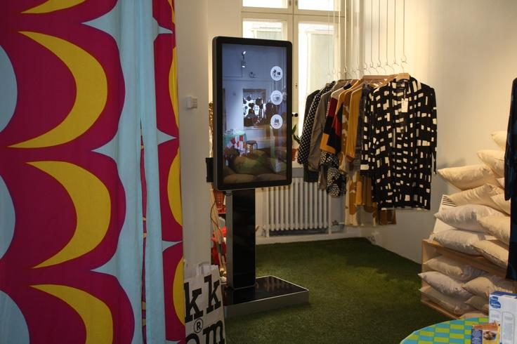 myPose! in Marimekko´s Marikiska, Uudenmaankatu 13, Helsinki.  Photo: myPose Ltd.